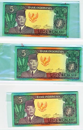 uang 5 rupiah soekarno